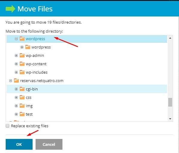 mover_archivos_wordpress_fuera_carpeta_plesk
