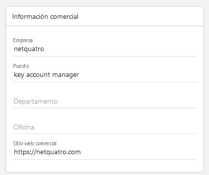net4email datos empresa perfil de usuario información comercial
